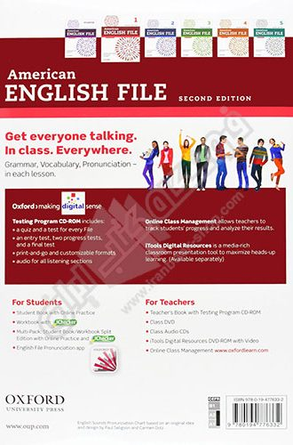 American English File 1 - back Cover