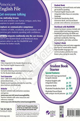 American English File Starter - Back Cover