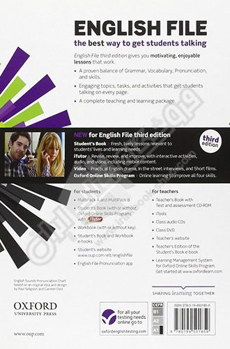 English File Beginner - 3rd Edition - Back cover