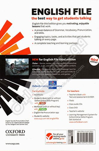 English File Elementary - 3rd Edition - Back cover