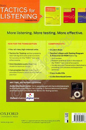 Basic Tactics for Listening Back Cover